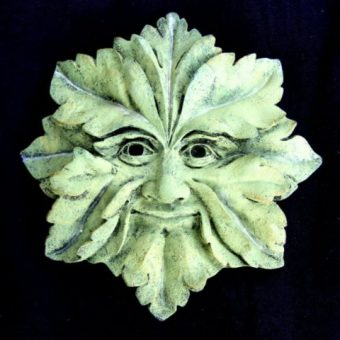 Green Man Pagan Wall Plaque
