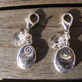 Tibetan Silver Oval Inspired Word Clip Charms