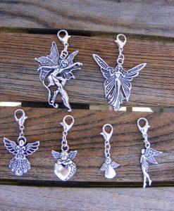 Tibetan Silver Guardian Angel Clip Charms